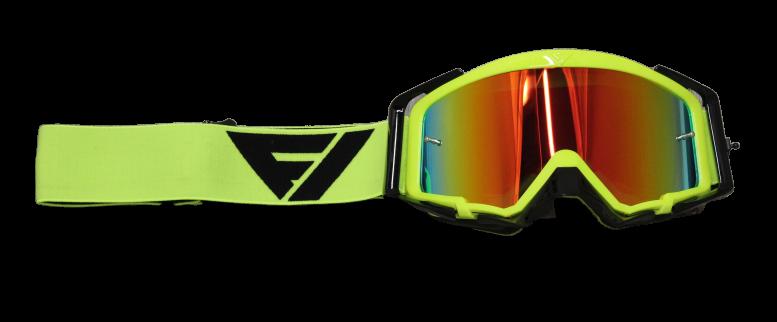 FLOW VISION Rythem Motocross Goggles FLO/BLK