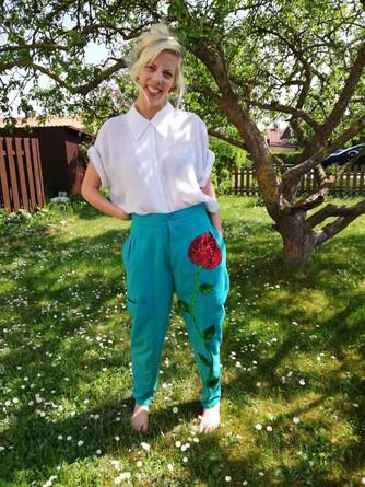 Flower trousers
