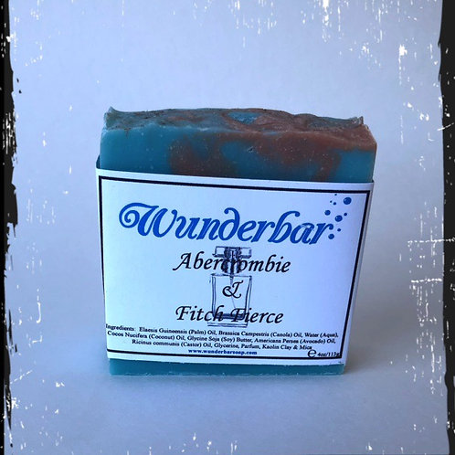 Wunderbar Soap, one bar (Abercrombie & Fitch Fierce Scented)