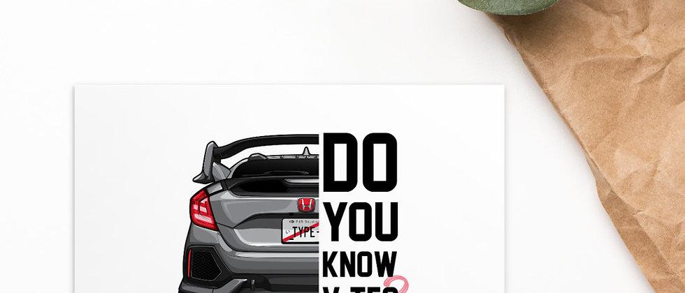 Honda civic Type R (GRAY)