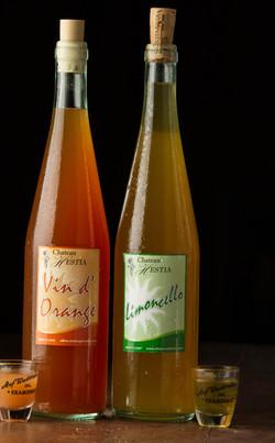 Home-made Limoncello & Vin d'Orange