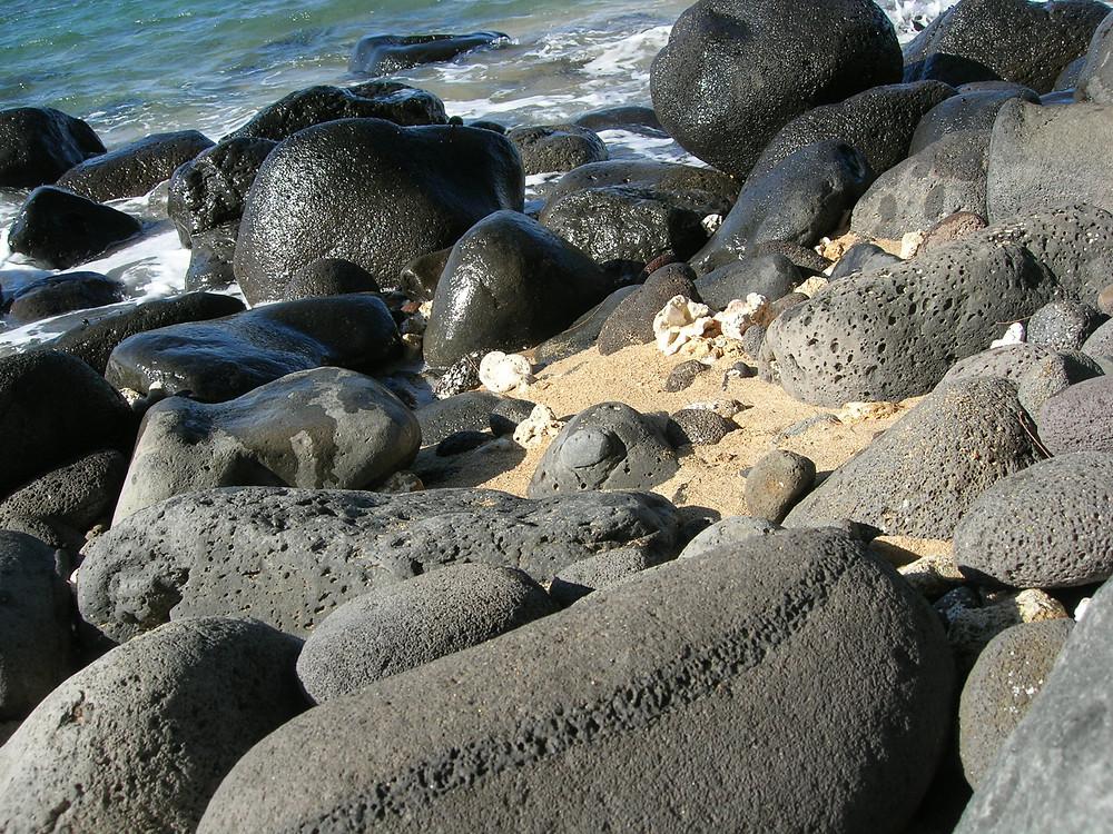 A whole beach full of olivine!