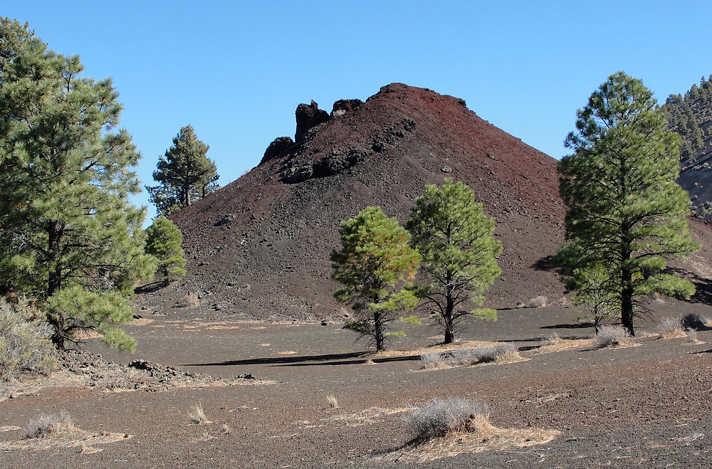 Around base of Sunset Crater, from the Arizona Geologic Survery