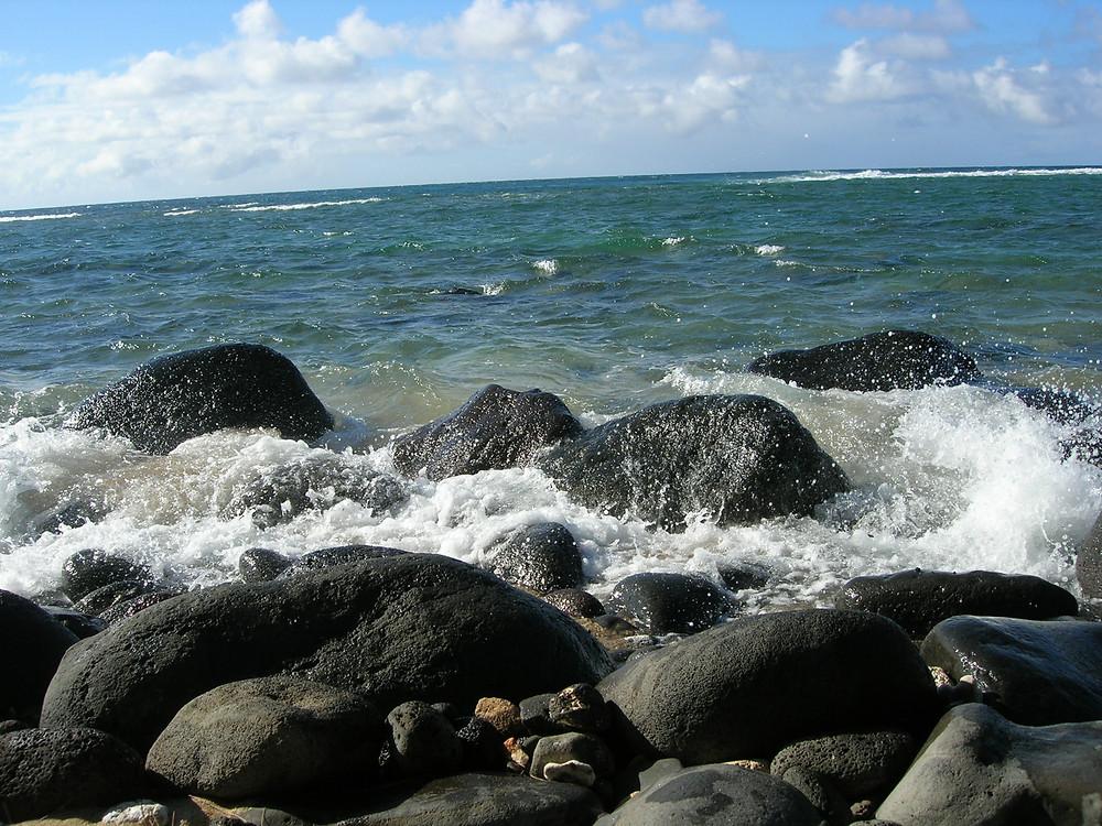 Giant rocks on beach