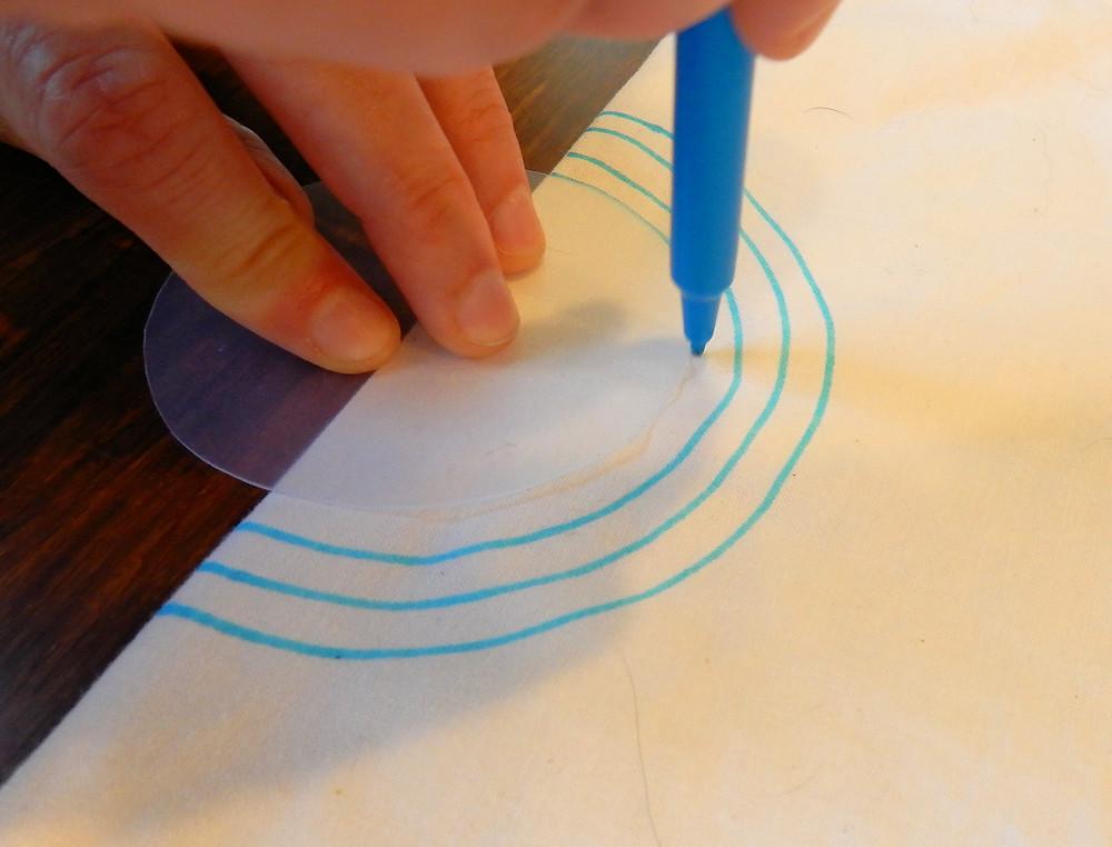 Draw in stitch lines