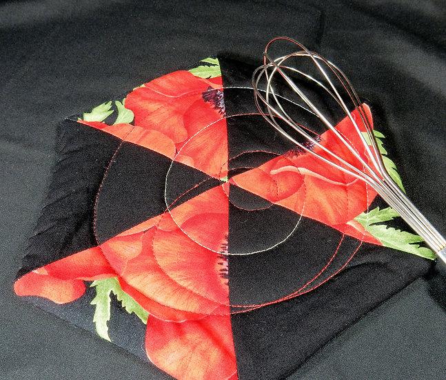 main image red poppy hot pad