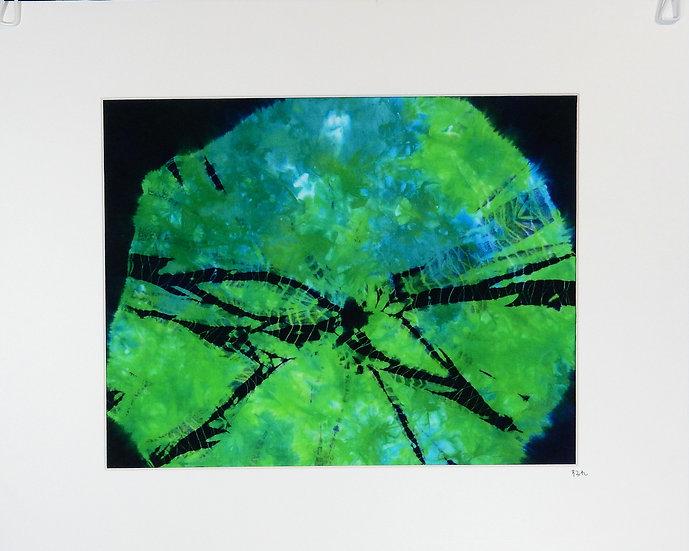 """The Center"" a kumo shibori wall art"