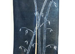 Lessons in stitched and tied shibori part 6: Making a stitched bamboo leaf