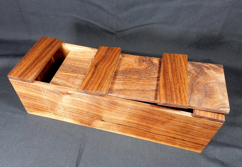 main image medium sized walnut sliding lid box