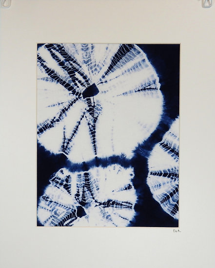 kumo shibori full piece blue and white