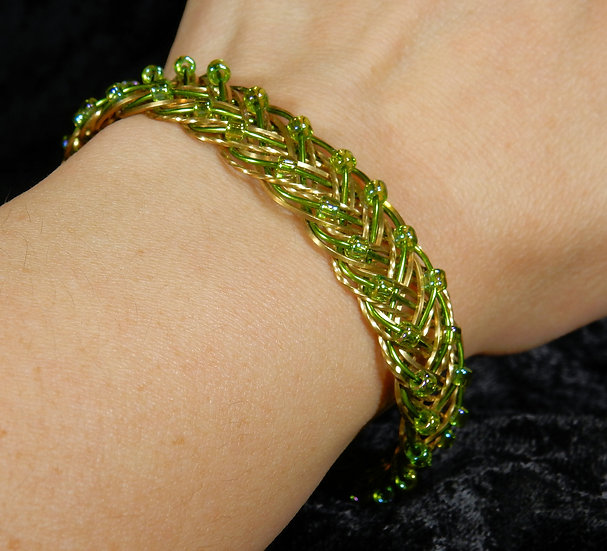wire braid on wrist