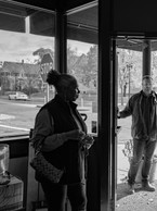 Ms. Stephanie being questioned about buying or renting the space where the old location of Golden Thyme Café was located in the Rondo neighborhood of St. Paul, Minnesota, 2019.