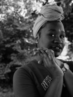 At D-Town Farm is Jameela, a young grower and healer was taught to honor and respect the earth because it provides sustenance for the Black community, Detroit, 2019.