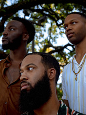 Kevin (left), Kamrin (middle), & Michael (right), Tremé, New Orleans, 2019.