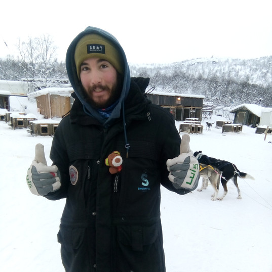 Our Musher with Fritz