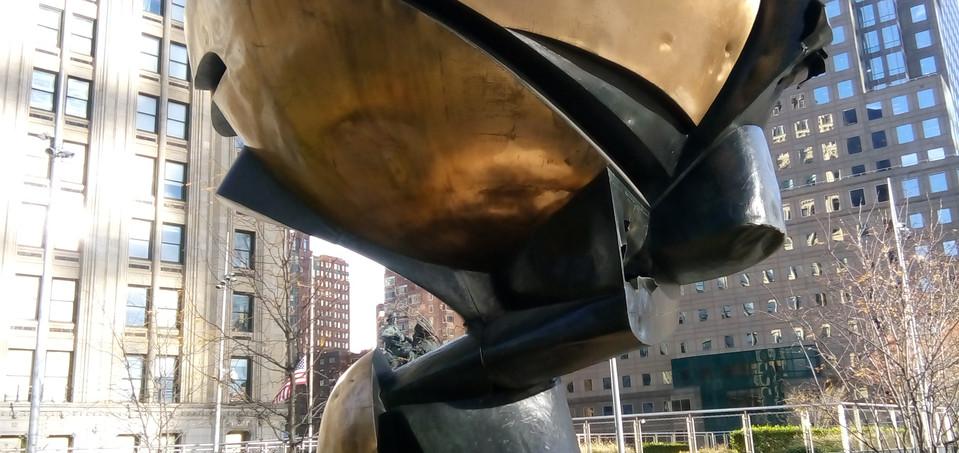 Damaged Sculpture from Ground Zero