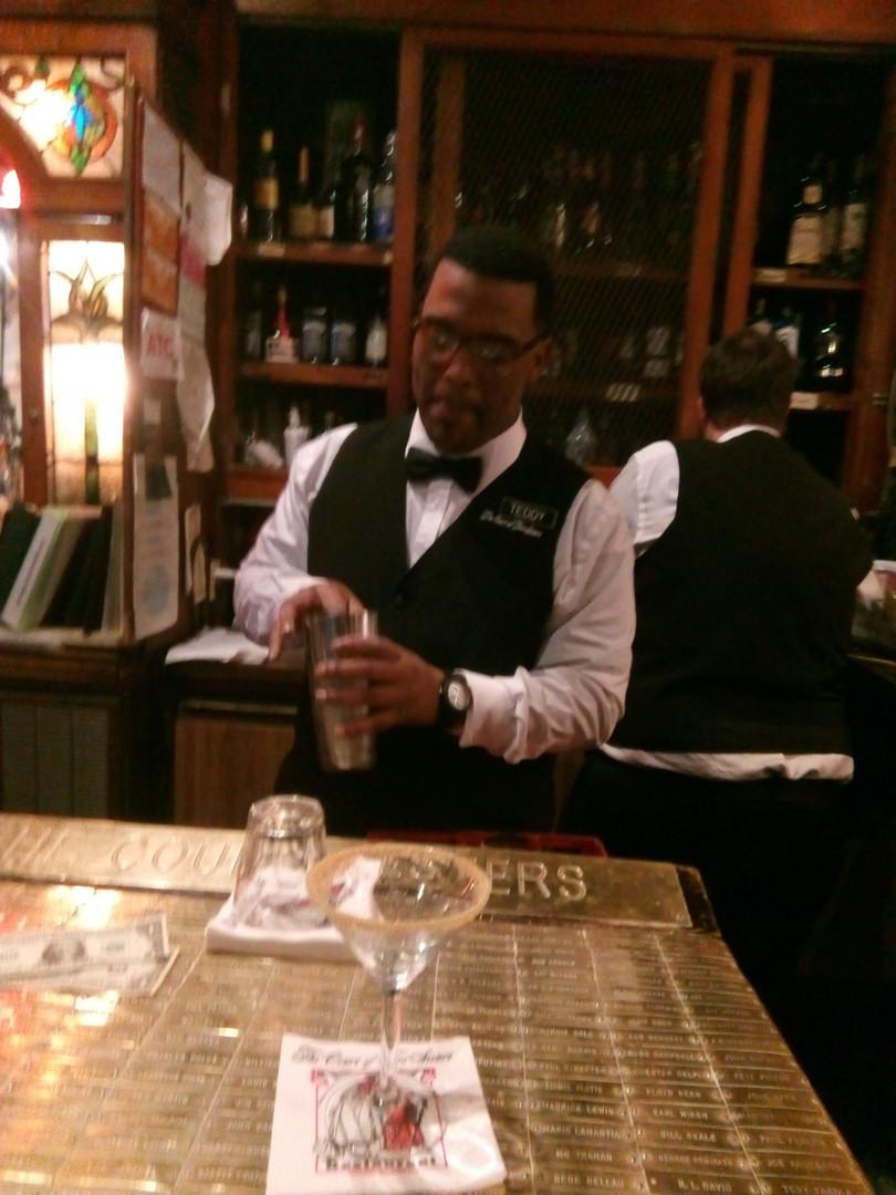 Eddie our favourite barman