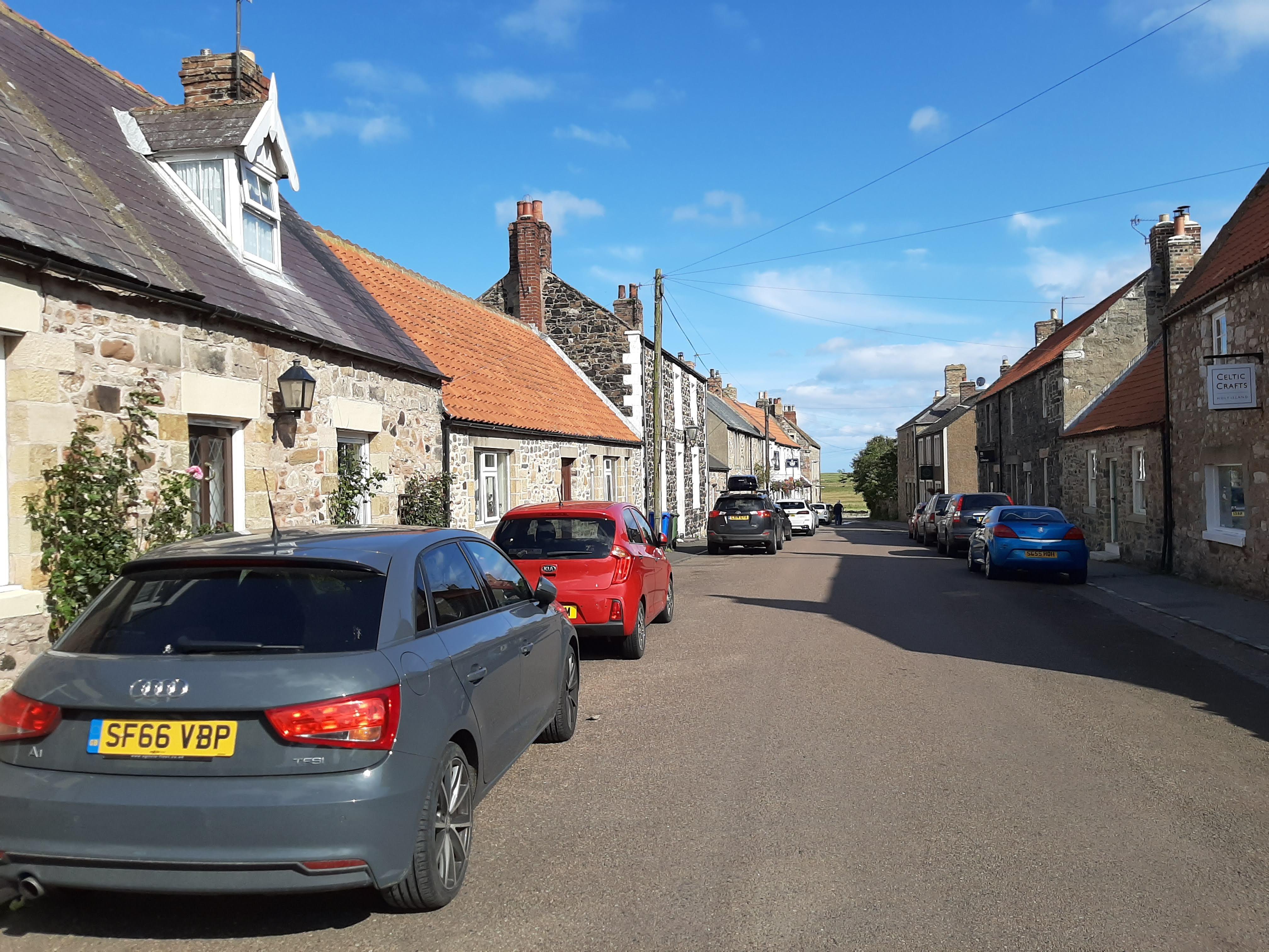 The village of Lindisfarne