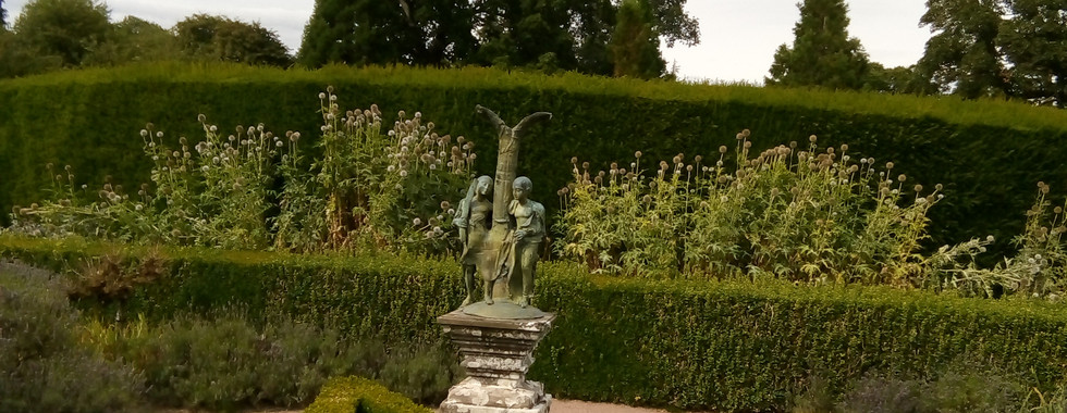 Adam and Eve Driven from Paradise by French sculptor George Jeanclos