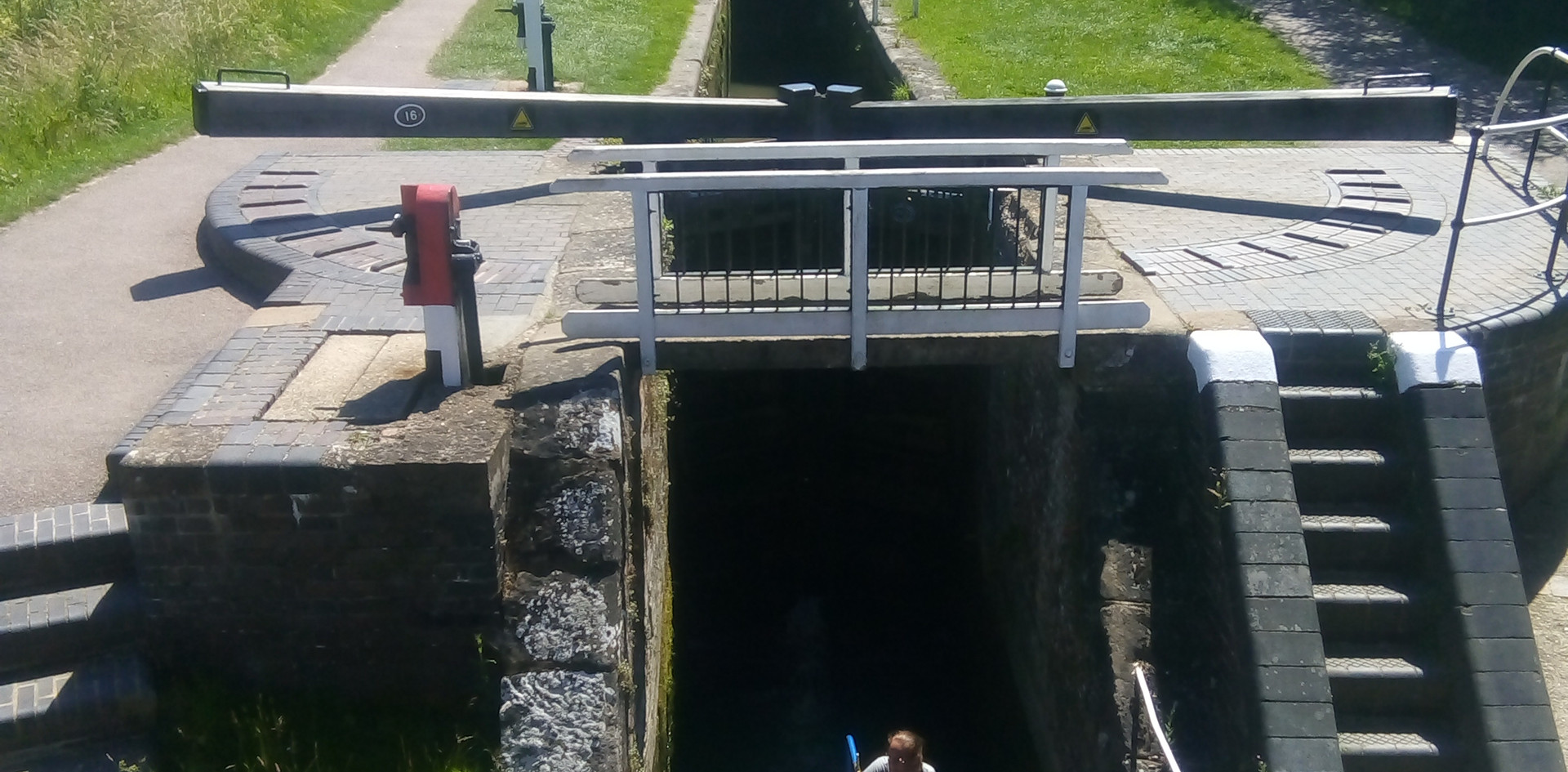 Coming down the locks
