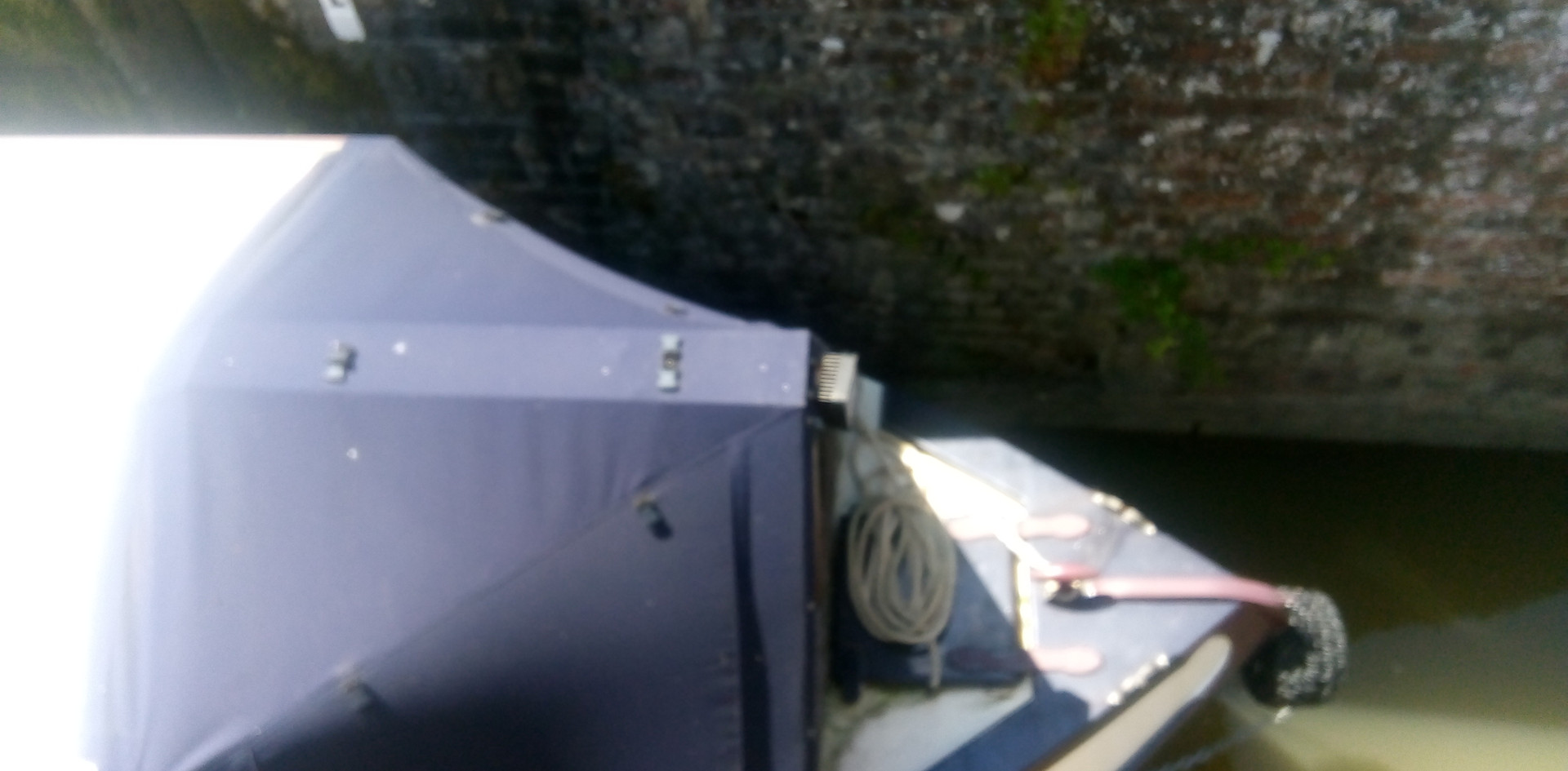 Canal Boat at the bottom of lock