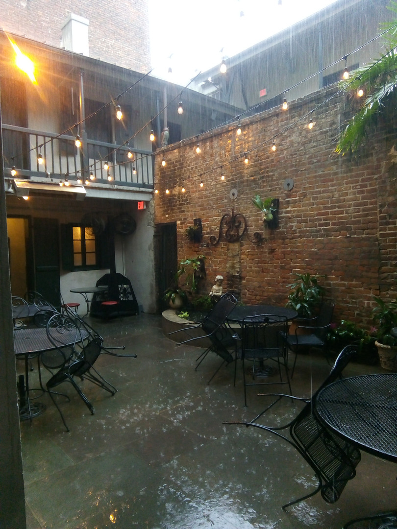 Courtyard in the rain