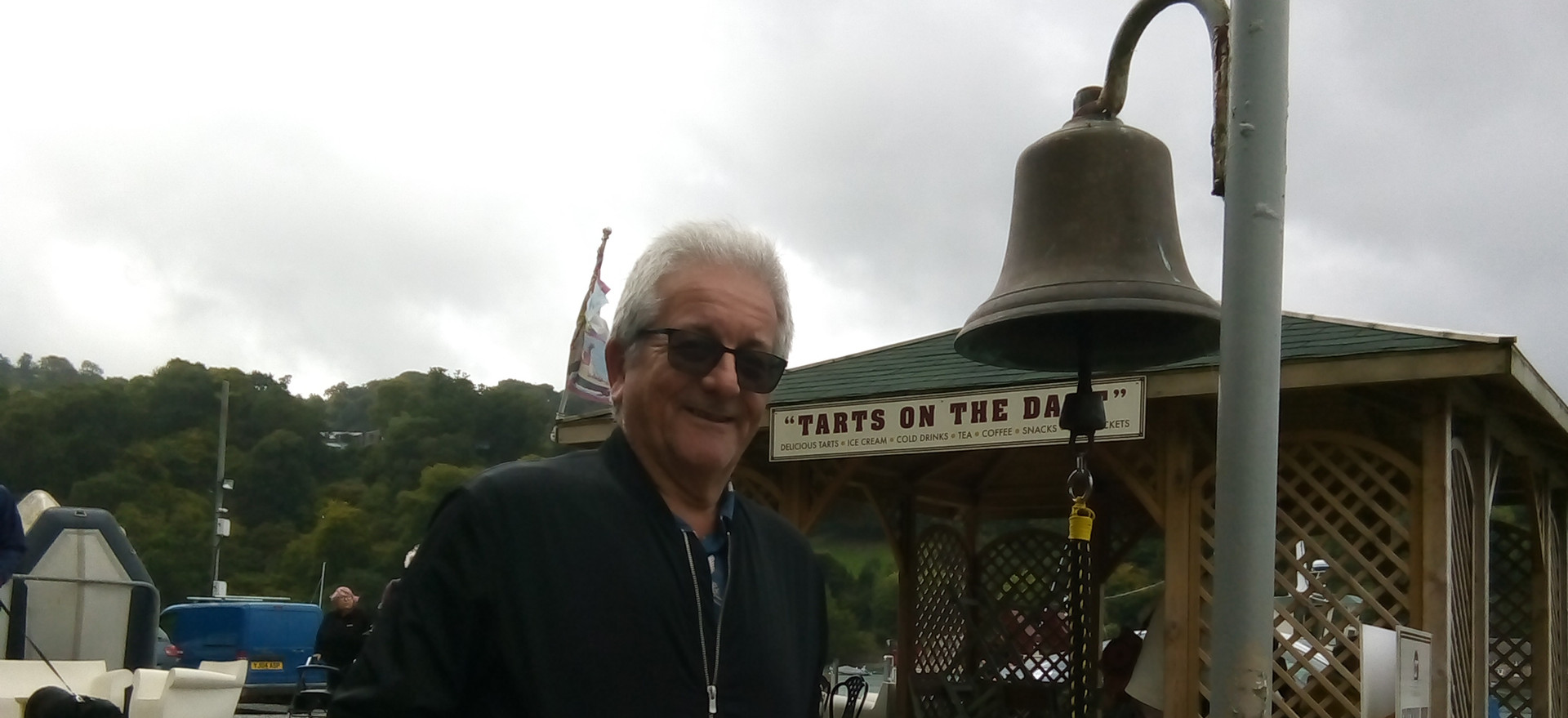 Steve with bell for ferry