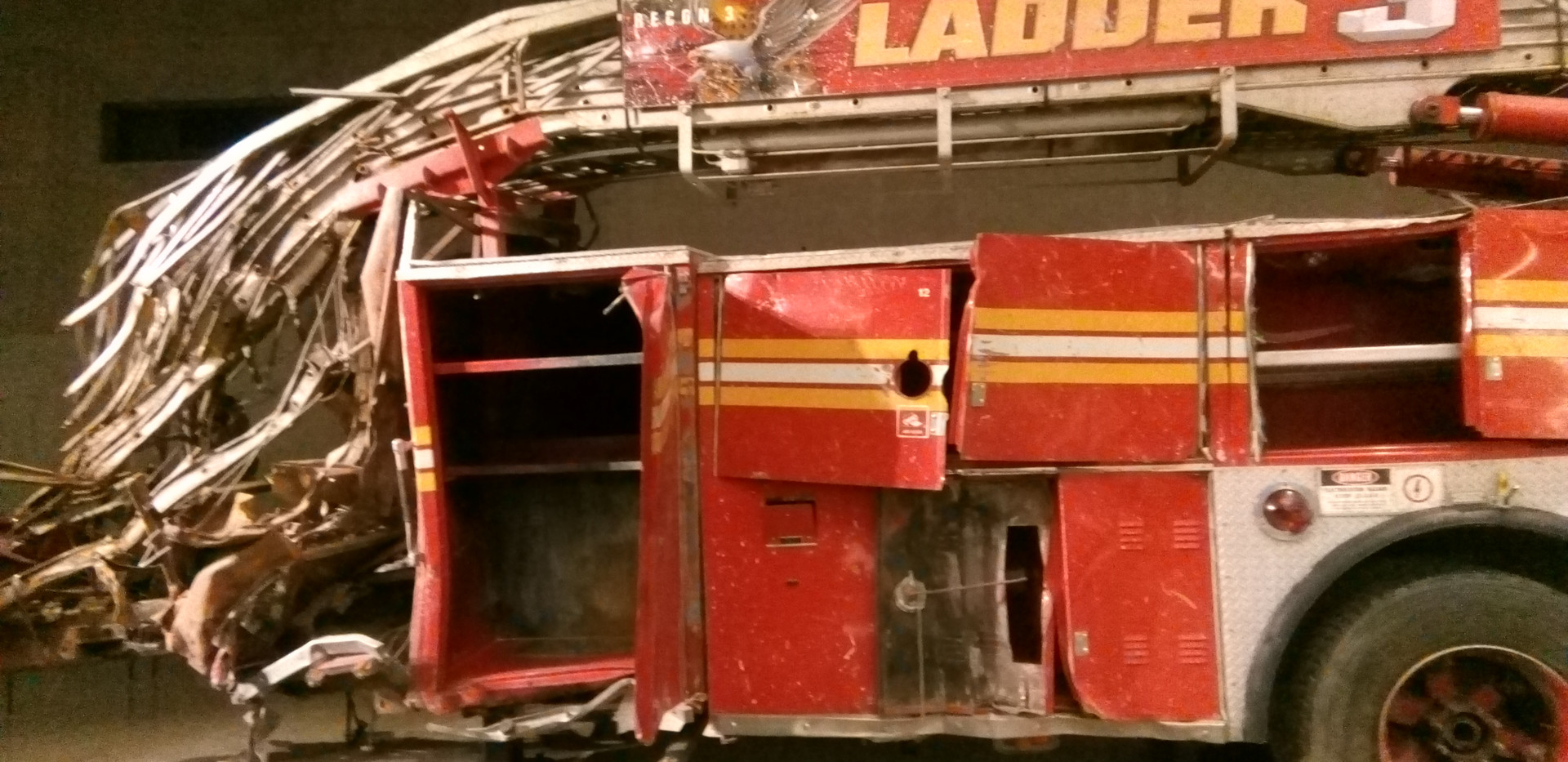 Remains of a fire truck