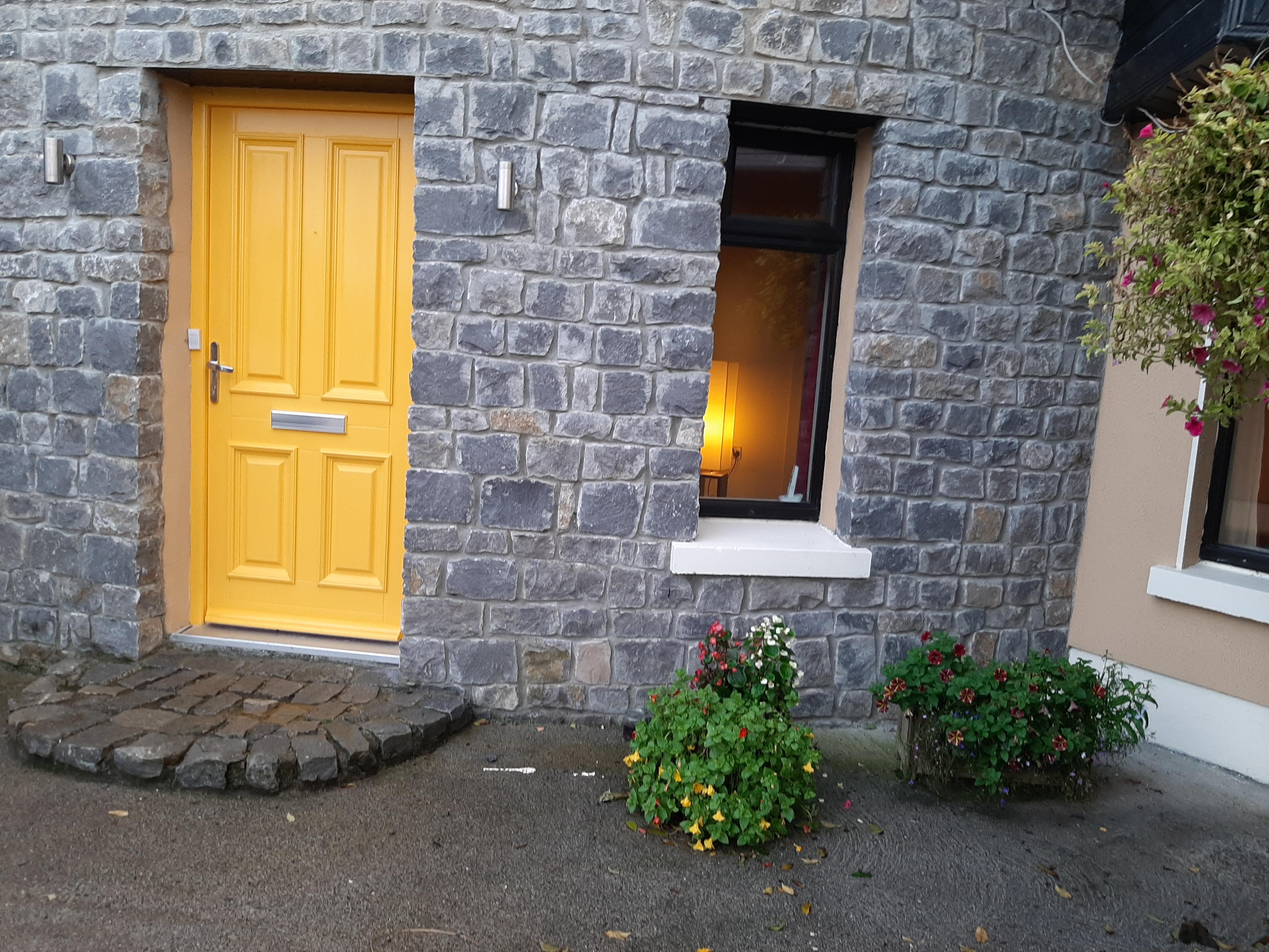 B and B welcoming front door