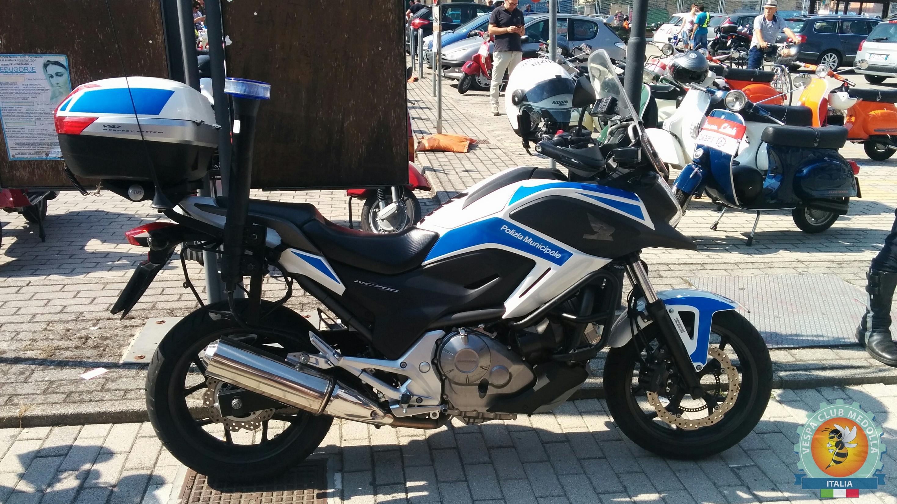 Honda NC700 polizia municipale