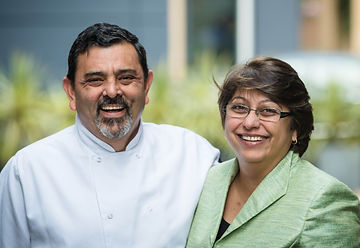 Cyrus and Pervin Todiwala, Chef Cyrus, Todiwala, OBE, smiling, Happy Couple, Successful, masterchef, saturday kitchen, indian.