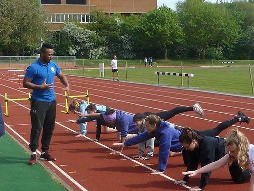 Sports therapist Ashley Watson teaching sports functional movments testing