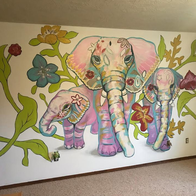 Boho Elephant Bedroom