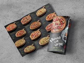 Буклет доставки пиццы