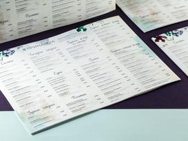 Меню для ресторана Примавера