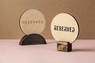 Табличка Резерв из дерева