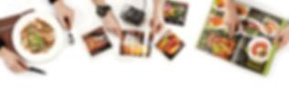 Фотосъемка блюд меню и дизайн папок меню, изготовление обложек меню