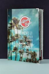 Папка меню для ресторана California Diner