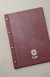 Папка из дизайнерской бумаги с тистеннием логотипа