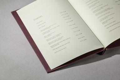 Папка меню в открытом виде