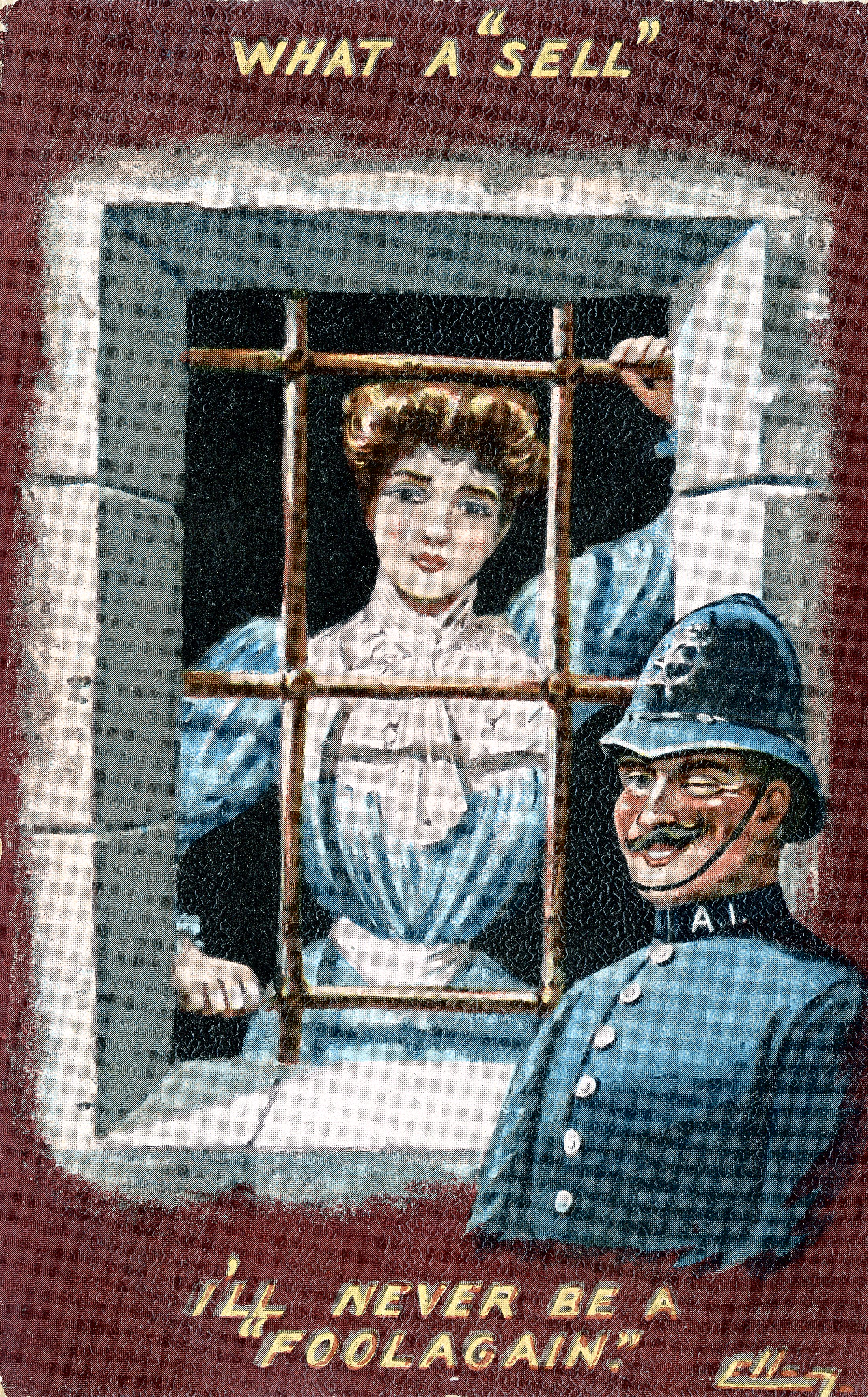 suffragette in cell