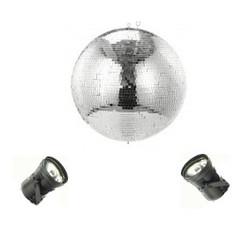 Discokugel + Punktstrahler + Motor