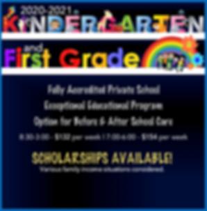 Kindergarten & 1st Grade Grapic for Webs