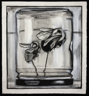 Two Bees in Jar