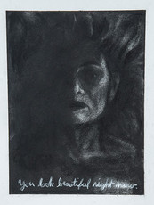 """charcoal on paper, 9.5"""" x 12"""""""
