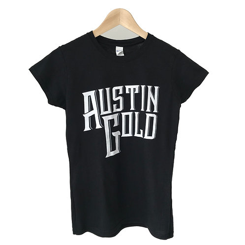 Ladie's Austin Gold Black T-Shirt