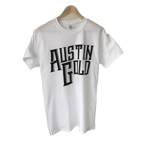 Men's Austin Gold White T-Shirt