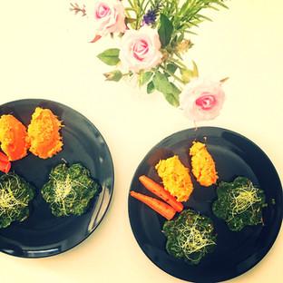 Restekochen - Gemüsethaler mit Püree