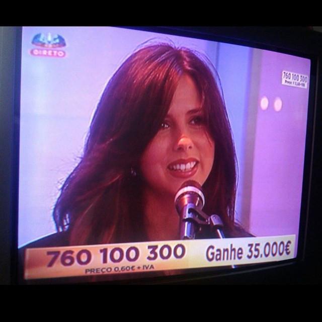 Live on Portuguese TV