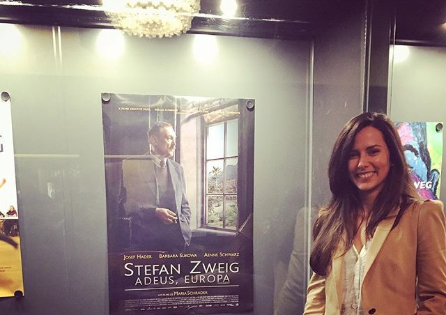 """At the premiere of the award winning German movie I wrote a song for """"Stefan Zweig - Farewell to Europe"""""""
